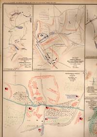 MAP: 15 maps and sketches of 16th & 17th Army positions, 1864