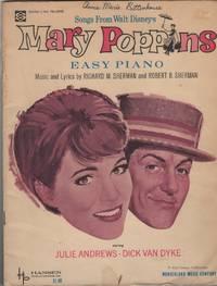 Songs from Walt Disney's Mary Poppins. Easy Piano