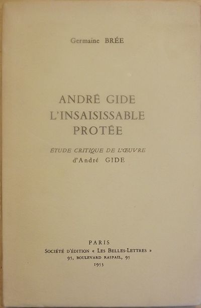 Paris: Societe D'Edition, Les Belles Lettres, 1953. First Edition. Signed presentation from Bree on ...