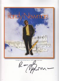 The Original Cover of Randy Newman's 1968 Self-Titled Debut Album - SIGNED BY RANDY NEWMAN