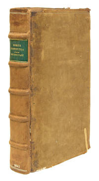 The Second Part of the Institutes of the Lawes of England, 1st Ed by Coke, Sir Edward, Magna Carta - 1642