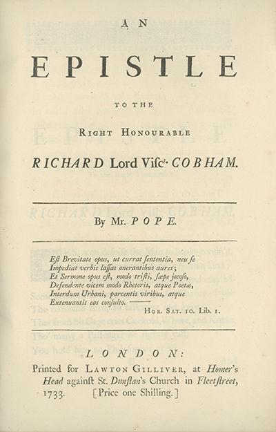 London: Printed for Lawton Gilliver, 1733, 1733. First edition. Griffith 329; Rothschild 1611; NCBEL...