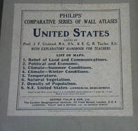 Philips' Series of Comparative Wall Atlases : United States : 1. Relief of Land and Communications ; 2. Political and Economic ; 3. Cliimate - Summer Condiitons ; 4. Climate - Winter Conditions ; 5. Temperature ; 6. Natural Vegetation ; 7. Density of Population ; 8. NE United States - Commercial Development
