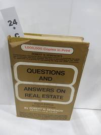 Questions and Answers on Real Estate 8th Editiion