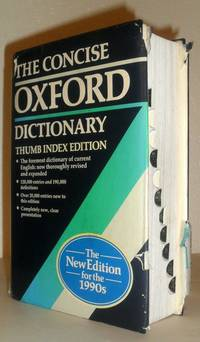 The Concise Oxford Dictionary of Current English - THUMB INDEX EDITION