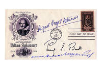 image of Four Nobel Prize Winners' Autographs on Special Envelope for First Day Issue of 400th Anniversary William Shakespeare Stamp