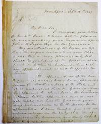 AUTOGRAPH LETTER SIGNED TO JOHN B. TEMPLE, 15 SEPTEMBER 1847, CONCERNING CRITTENDEN'S RECOMMENDATION TO KENTUCKY'S GOVERNOR OF JOHN B. PEYTON FOR A POSITION IN THE MILITIA