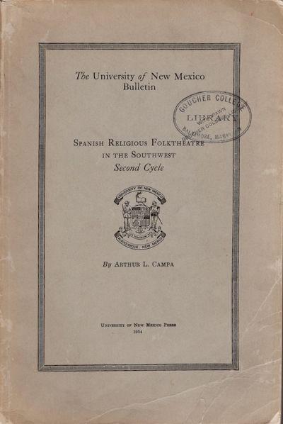 Albuquerque, New Mexico: The University of New Mexico, 1934. Soft cover. Good. Wraps. 157 pages. Gra...