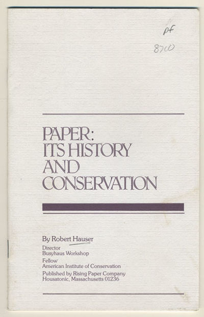 Housatonic, MA: Rising Paper Company, 1980. 8vo. 15, pp. This brochure answers the questions,