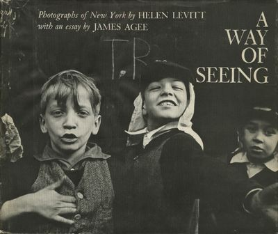 NY: Viking, 1965. First edition. Levitt, Helen. Oblong 4to., 78 pp., 50 photo-plates. Bound in black...