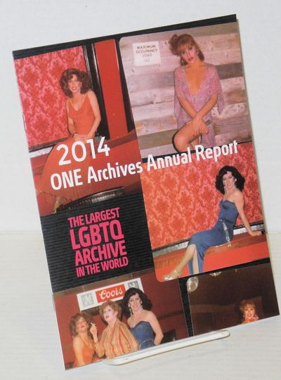 Los Angeles: ONE Archives, 2014. includes covers 7x9 inches, photos, very good brochure in glossy st...