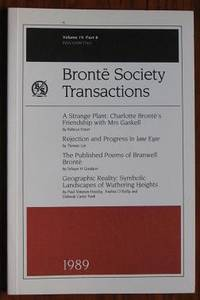 image of Brontë Society Transactions 1989 Part 8 Volume 19