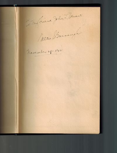 Indianapolis, IN: Indiana Historical Commission, 1922. SIGNED AND INSCRIBED BY AUTHOR on front end p...