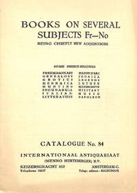 Catalogue 84/n.d: Books on Several Subjects