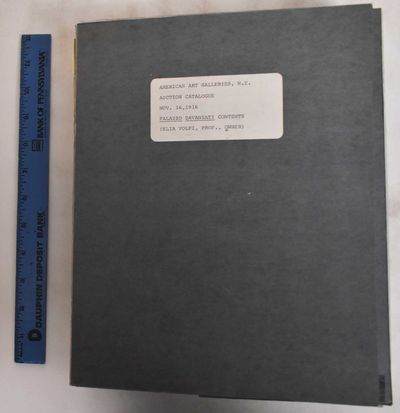 New York: American Art Association, 1916. Hardcover. G+/G-, has normal wear for age, spine is torn t...