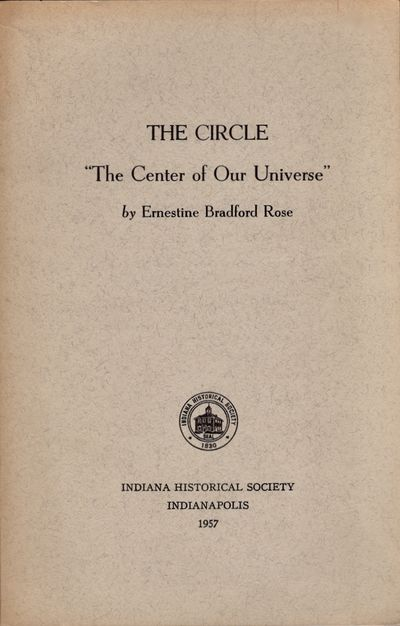 Indianapolis: Indiana Historical Society, 1957. Soft cover. Very good. Octavo. Soft cover. , pages 3...