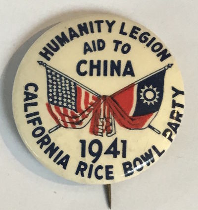 n.p., 1941. 1.25 inch diameter button, very good condition. Depicts US and Nationalist Chinese flags...