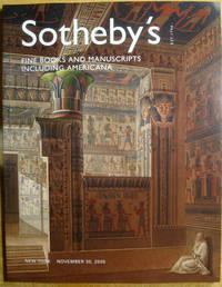 Fine Books and Manuscripts Including Americana; November 30, 2005;  Sale NO8135