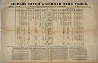 image of Hudson River Railroad Time Table.  No 50. For the Exclusive Use of the Employes (sic) of the Road, with General Rules and Regulations