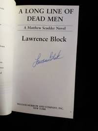 A Long Line of Dead Men SIGNED Advance Reader's Copy