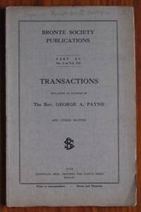 image of Brontë Society Transactions 1930 Part XL No 5 Volume VII