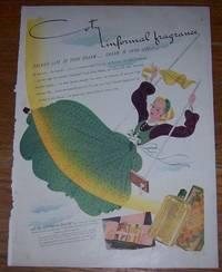 1940 COTY INFORMAL FRAGRANCE LIFE MAGAZINE COLOR ADVERTISEMENT