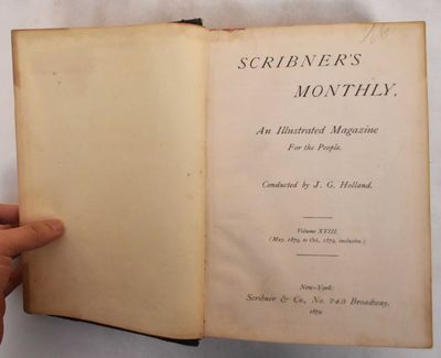 New York: Scribner & Co, 1879. Hardcover. G+, covers show rubbing and wear, spine is worn. Front cov...