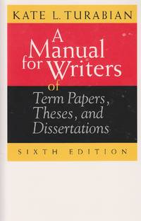 image of A Manual for Writers of Term Papers, Theses, and Dissertations, 6th  Edition Of Term Papers, Theses, and Dissertations