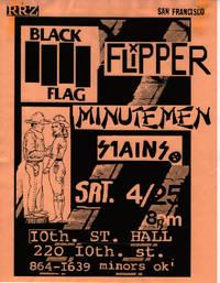 Black Flag at 10th Street Hall (1981 Concert Flyer)