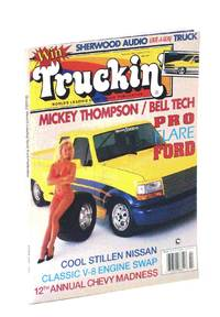 Truckin' Magazine, February [Feb.] 1993: Cover Photo of Mickey Thompson / Bell Tech Pro-Flare Ford with Illene Voss