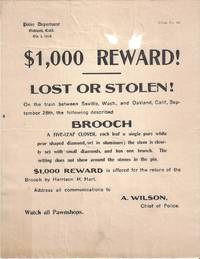 $1,000.00 Reward!