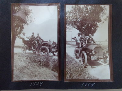 (AUTOMOBILE TRAVEL - PHOTOGRAPH ALBUM) AUTO TRAVEL PHOTOGRAPH ALBUM. 1909-1911 Travel, Auto-Touring ...