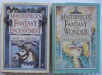 """Grouping:  """"Masterpieces of Fantasy and Enchantment"""", with """"Masterpieces of Fantasy and Wonder""""  - 2 hard covers in uniform jackets - The Last of the Huggermuggers:  A Giant Story, The King's Bride, The Gray Wolf, The Detective of Dreams, The 17 Virgins +"""