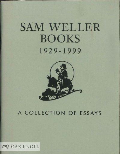 Salt Lake City, UT: Sam Weller Books, 1999. stiff paper wrappers. Weller, Sam. 16mo. stiff paper wra...