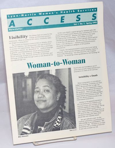 San Francisco: Access, 1992. 6p., 8.5x11 inches, articles, reports, news, services, resources, photo...