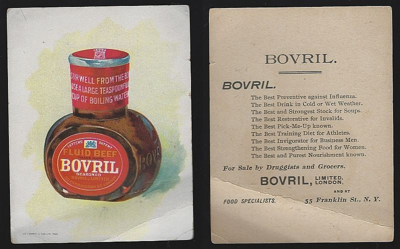 VICTORIAN TRADE CARD FOR BOVRIL FLUID BEEF, Advertisement