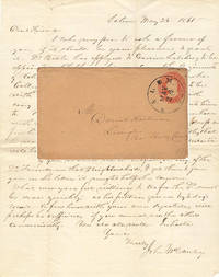 The only known U.S. postal envelope mailed through the Confederate post office at Salem Virginia; it was used to carry a letter requesting support for the appointment of the Roanoke College President as a Chaplain in the Confederate Army