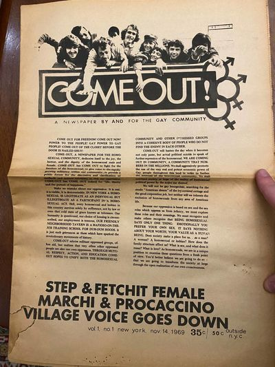 Come Out!: A Newspaper By and For the...