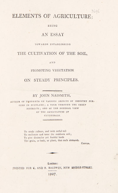 London: Printed for C. and R. Baldwin, 1807. Octavo. (8 7/8 x 5 1/2 inches). vi, , 544, pp. Publishe...