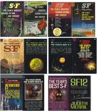 """""""THE YEAR'S GREATEST / BEST SF"""" SERIES COMPLETE IN 12 VOLUMES: 1st, 2nd, 3rd, 4th, 5th, 6th, 7th, 8th, 9th, 10th, 11th, SF12"""