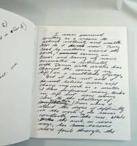 Handwritten Speech; Dances with Wolves; Library Tour Ephemera