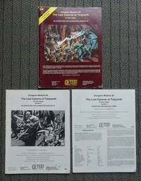 image of THE LOST CAVERNS OF TSOJCANTH.  DUNGEON MODULE S4.  INCLUDES BOOKLET 1. AN ADVENTURE FOR CHARACTER LEVELS 6-10 & BOOKLET 2. MONSTERS AND MAGICAL ITEMS.  WITH FOLDER.