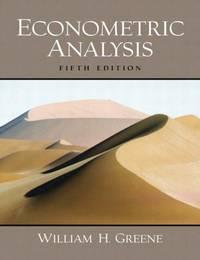 image of Econometric Analysis: United States Edition