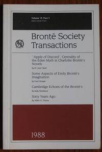 image of Brontë Society Transactions 1988 Part 5 Volume 19