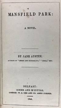 [Austen, Jane] Mansfield Park. A Novel