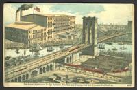 image of The Brooklyn Bridge.  Large trade card for the Royal Baking Powder Company