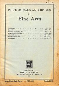 Catalogue 731/1958: Periodicals and Books on Fine Arts. Periodicals -  Painting, engraving - Architecture, sculpture - Industrial arts, etc.