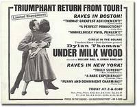 [Broadside]: Triumphant Return from Tour...Under Milk Wood