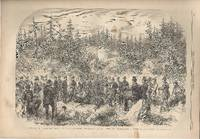 """ENGRAVIMG: """"Elk-Shooting in the Forest of Hogtorp""""...engraving from The Illustrated..."""