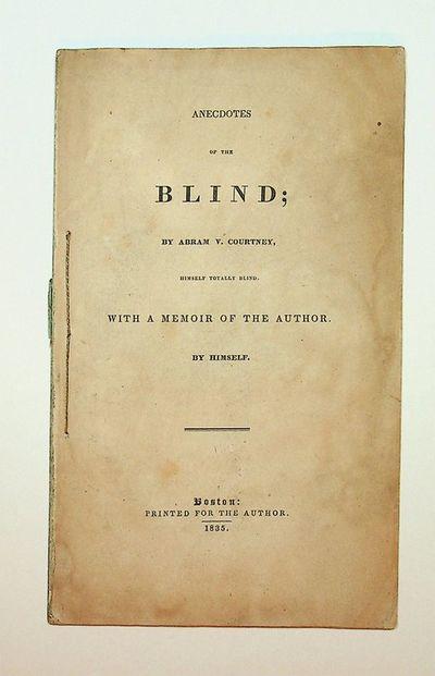 Boston, Massachusetts: Printed for the author, 1835. Wraps. Good. 52 pages. 8vo. Lacks original wrap...